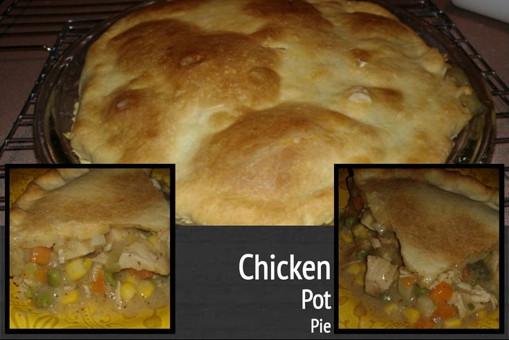 Homemade Chicken Pot Pie with a Flakey Crust