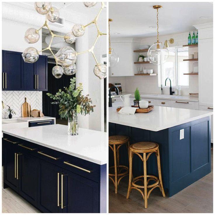 4 ways to use navy blue in your kitchen navy kitchen cabinets white kitchen decor blue on kitchen decor navy id=49799