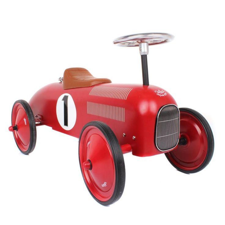 Vilac Retro Ride On Metal Car - Red from Lullabuy http://www.lullabuy.co.uk/designer-toys/vilac-retro-ride-on-metal-car-red.html