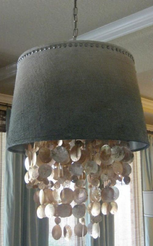 Items Similar To Dripping Capiz Shell Chandelier Shade Custom Optional On Etsy