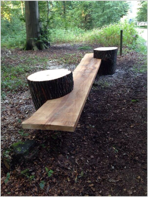 AI- Ideas to Deco-rate- Your- Garden- with a Fallen -Tree or Logs-1
