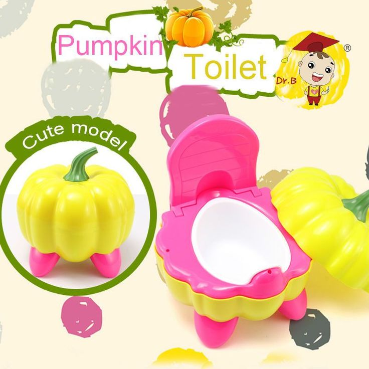Pumpkin Modelling Children Baby Potty Toilet Training Plastic Seat Chair Pee Trainer for Kid Urinal Bathroom 272-8601#