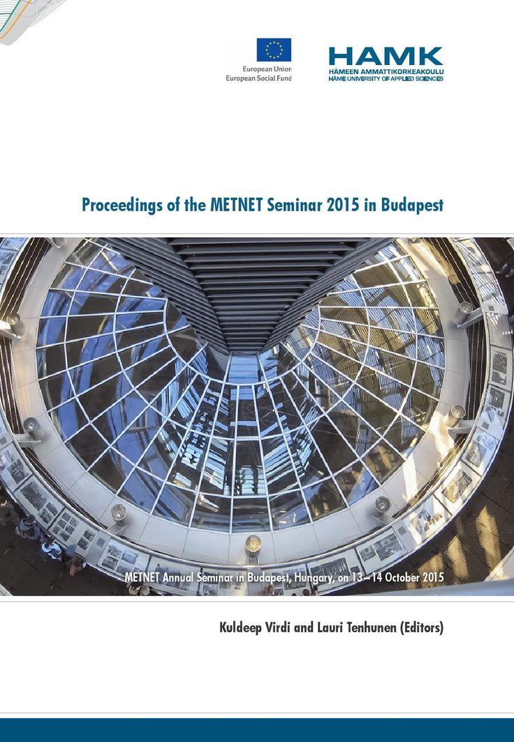 Proceedings of the METNET Seminar 2015 in Budapest