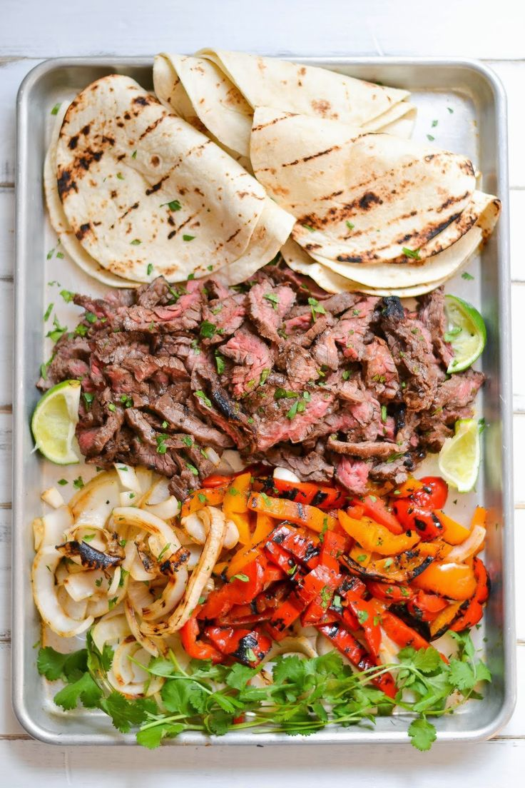 Skirt Steak Fajitas. Marinated about 7 hours. 1/3 c. soy sauce 1/3 c. fresh squeezed lime juice 1/3 c. canola oil 3 cloves of garlic, minced 2 T. brown sugar 1 t. cumin 1 t. chile powder Save a little marinade for the peppers and onions