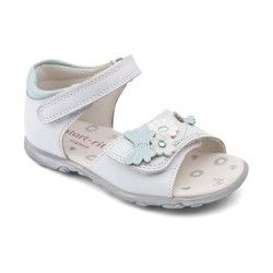 White Leather Girls Shoes