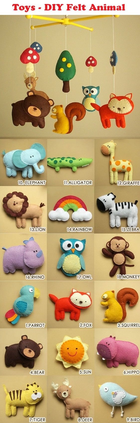 Toys - DIY Felt Animals