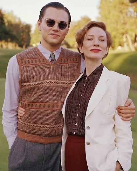 #LeonardoDiCaprio and #CateBlanchett on the set of The Aviator.