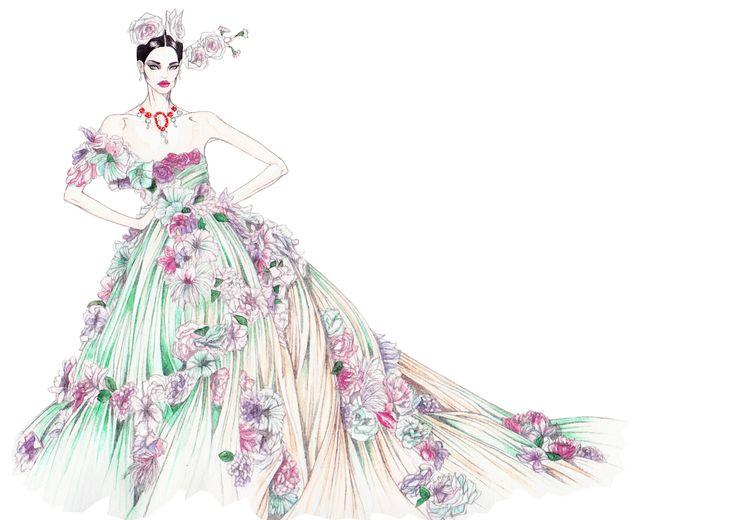 VOGUE ALTA MODA | Dolce&Gabbana | elenapaoletti_illustrations