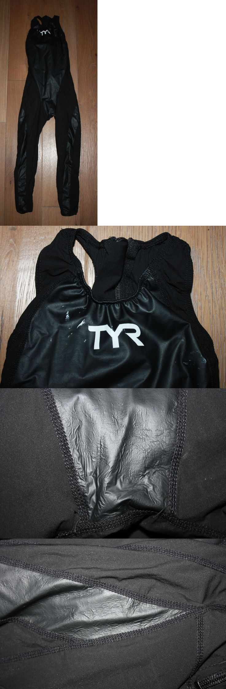 Women 140051: New Tyr Womens Black Tracer Rise Full Body Zipper Back Tri Suit - Usa Made - 26L -> BUY IT NOW ONLY: $49.95 on eBay!