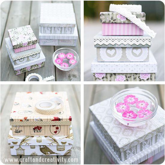 DIY Romantic boxes - by Craft & Creativity