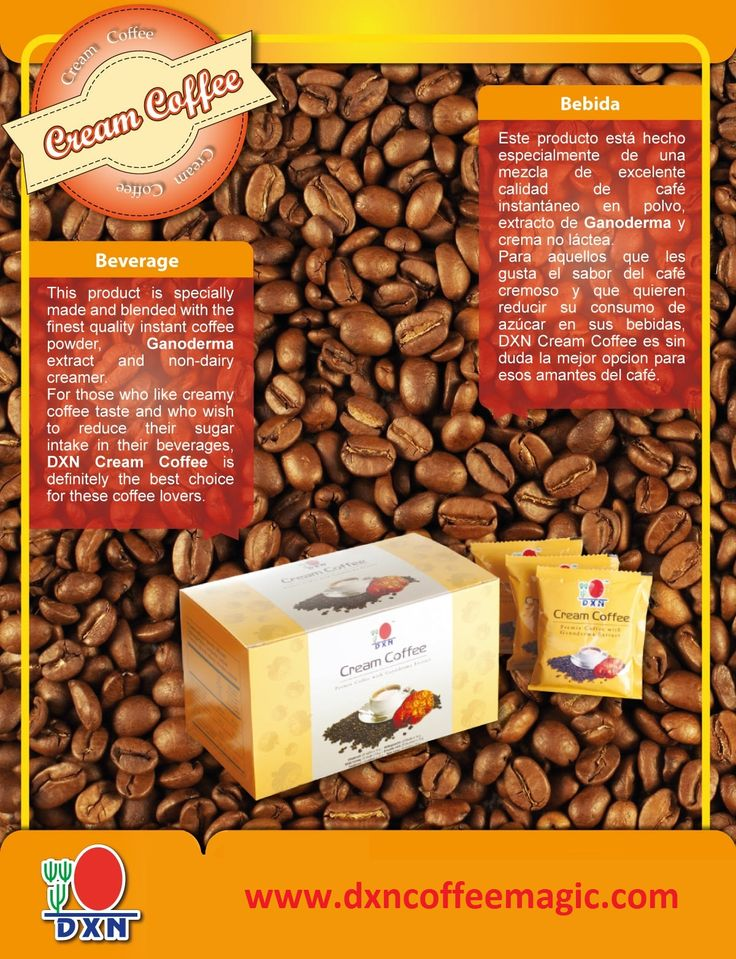 No sugar, just Ganoderma, non-dairy creamer and Arabica coffee. What is Ganoderma? Read on here: http://www.dxncoffeemagic.com/ganoderma