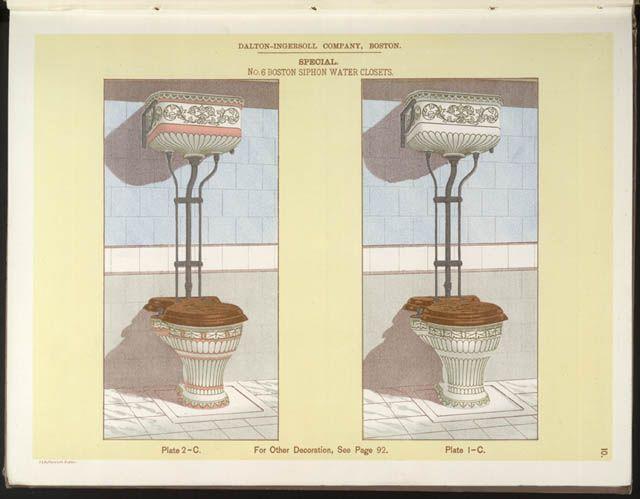 Water closet boston the dalton ingersoll company 1893 for 1800 closets
