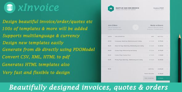 Xinvoice Generate Beautifully Designed Invoices Dynamically Free Nulled Create Invoice Codecanyon Generation