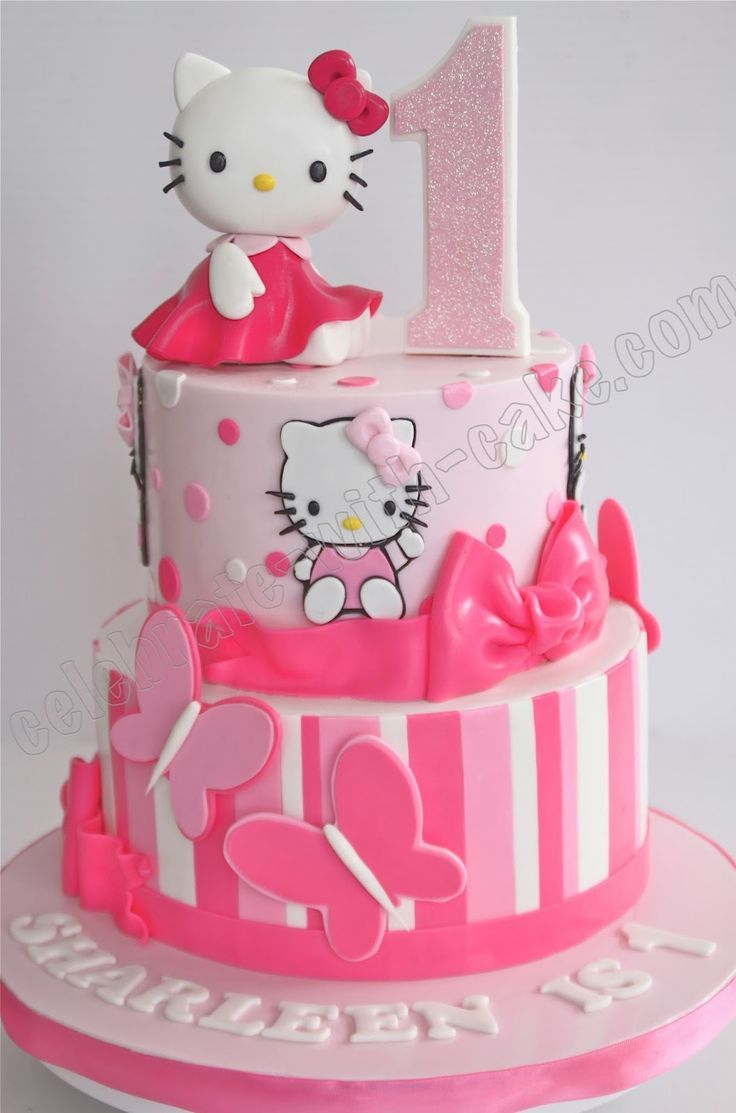 hello kitty birthday cake celebrate with cake 1st birthday hello kitty tier cake 4780