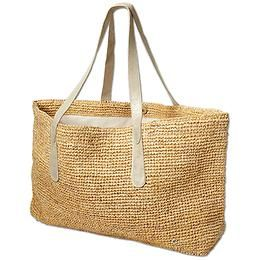 Big Sur Straw Tote by Flora Bella International - The oversized hand-crocheted straw tote thats big enough to pack in everything you need for the beach.