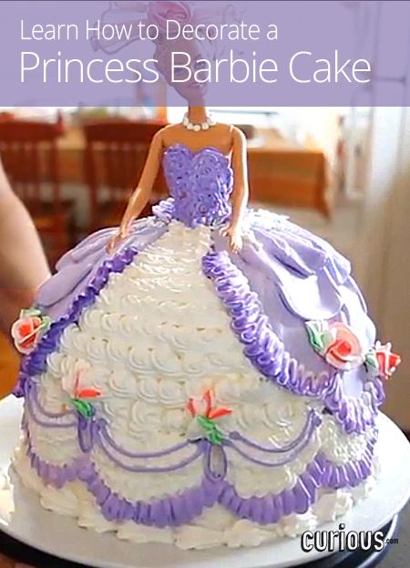 Regans Birthday How To Decorate A Princess Barbie Cake My Mom Made These Cakes Back In The She Me Bride Like Wedding Dress And Out Of Soup