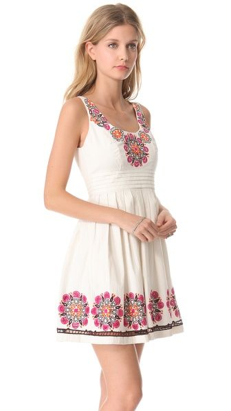Embroidered dress for summer