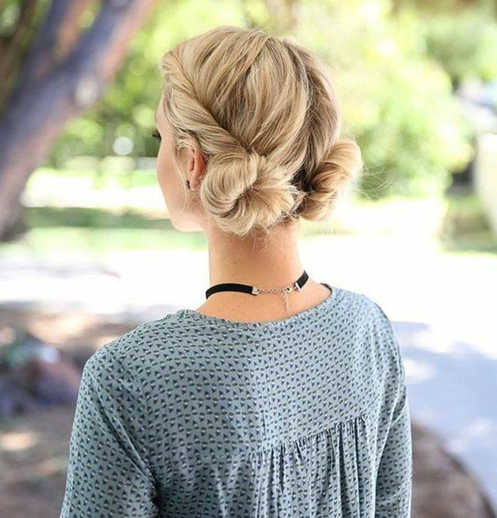 17 best ideas about chignons on pinterest wedding updo formal hair and grad hairstyles - Coiffure chignon facile ...