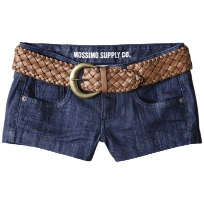 Mossimo Supply Co. Juniors Belted Denim Short - Indigo