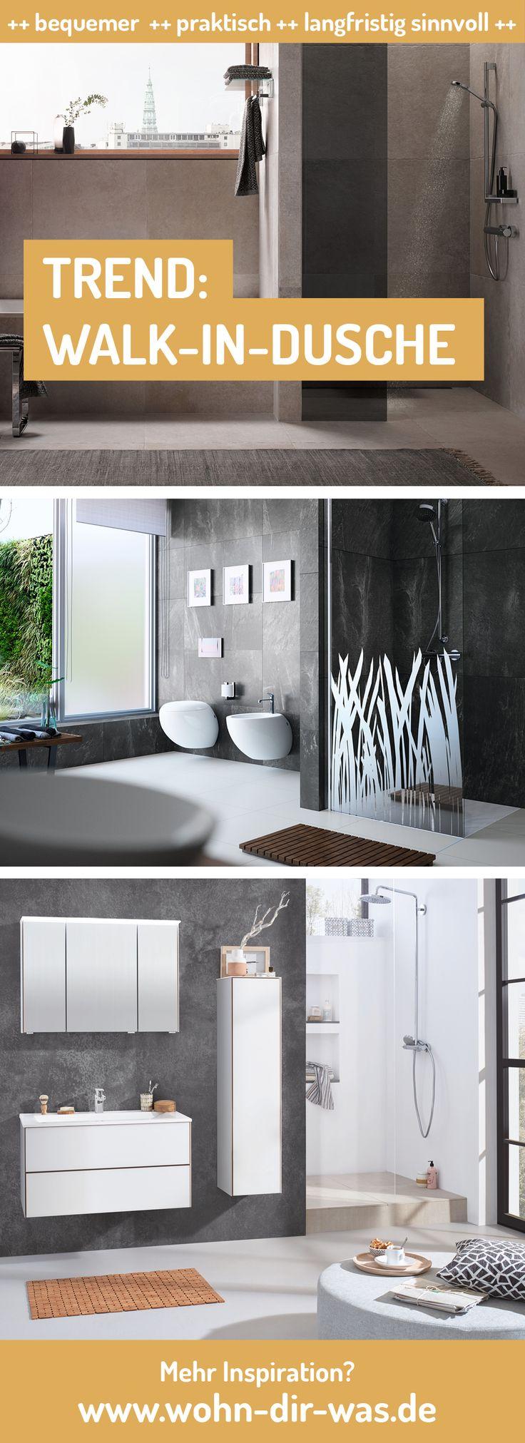 Praktisch und schön: Begehbare #Duschen sind voll im Trend – und als barrierefreie Lösung auch im Alter noch optimal. Alles Wichtige rund um Walk-in-Duschen unter www.wohn-dir-was.de  Bildmaterial (c) PURIS, KEUCO, HÜPPE