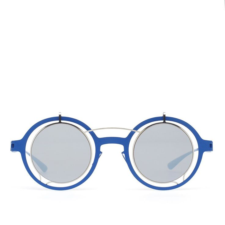 Madeleine sunglasses from Mykita collection in collaboration with Damir Doma in blue