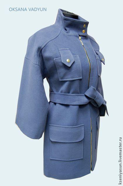 Пальто Flor del ciruelo - фиолетовый,однотонный,пальто женское,пальто демисезонное