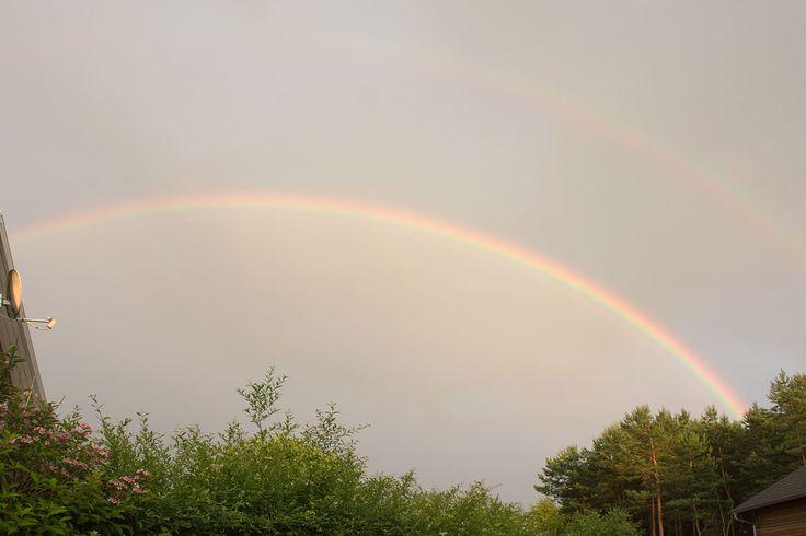 Doppelter Regenbogen über Borkwalde