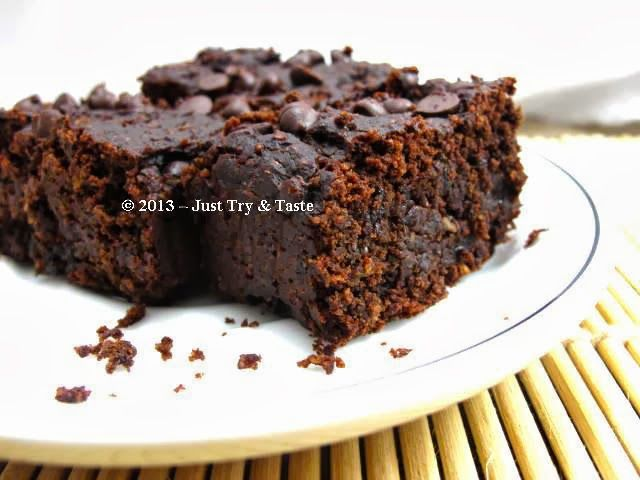 Just Try & Taste: Brownies Kacang Merah: Tanpa Telur! Tanpa Tepung! ...