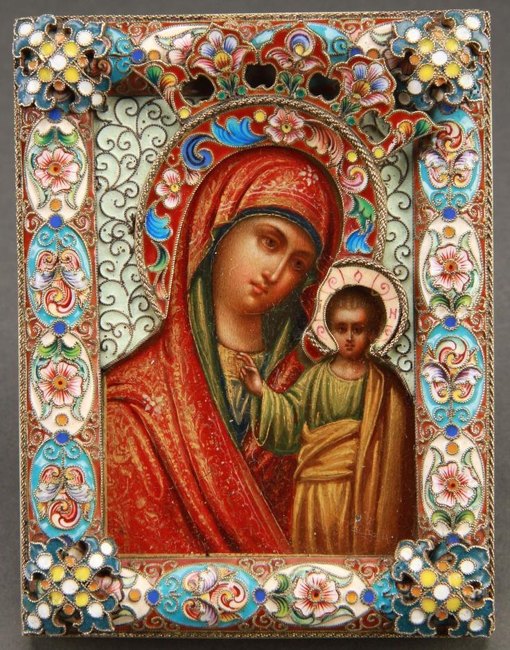 Russian icon of the Kazan Mother of God, Feodor Ruckert,