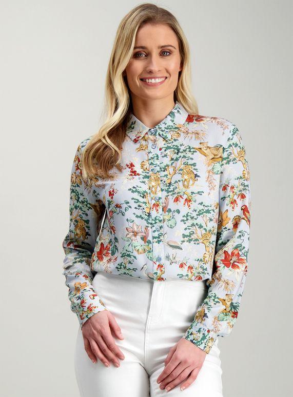 ef8aa579976d Multicoloured Leopard & Safari Print Shirt in 2019 | ♛ Smart Casual ...