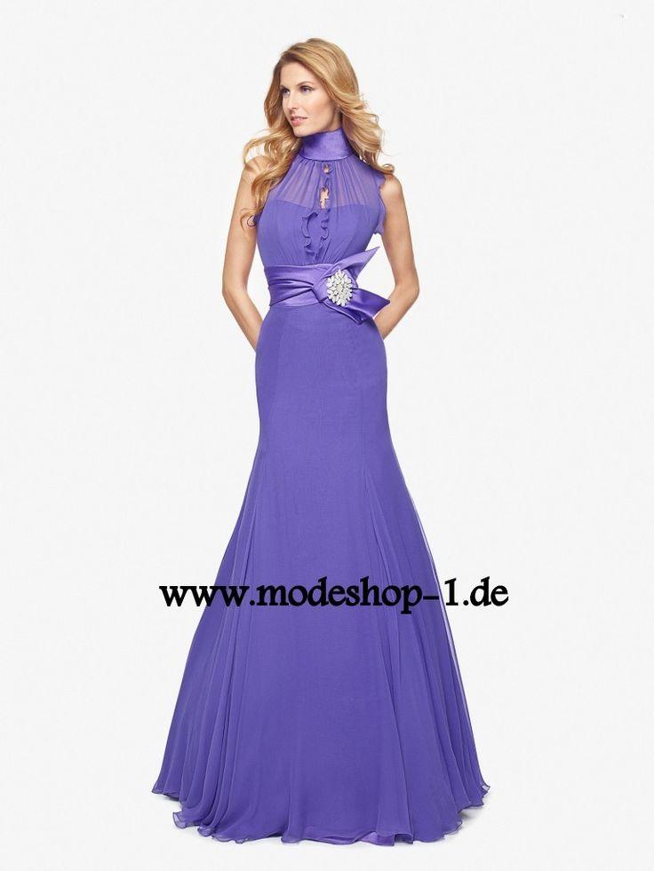 435a50cbd194 Blaues Meerjungfrau Abendkleid mit Dekollette   Blaue Kleider online kaufen    Entdecke dein neues Kleid bei Mode Trends   Pinterest