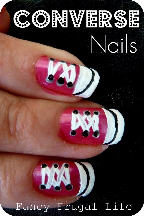 DIY Converse Nails summer-ideas