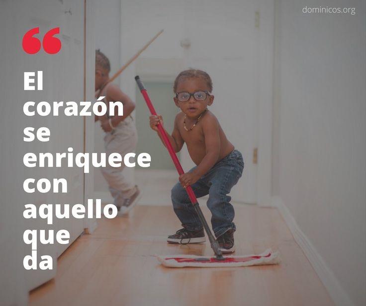 """""""El corazón se enriquece de aquello que da"""" @dominicos_es #FelizMiércoles #Frases #Frase #FrasesDeVida #Fe"""