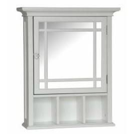 This White Bathroom Medicine Cabinet with Mirror provides much-needed storage space. Also, the decorative piece of furniture adds an attractive storage space to any bathroom.White Bathroom Medicine Ca