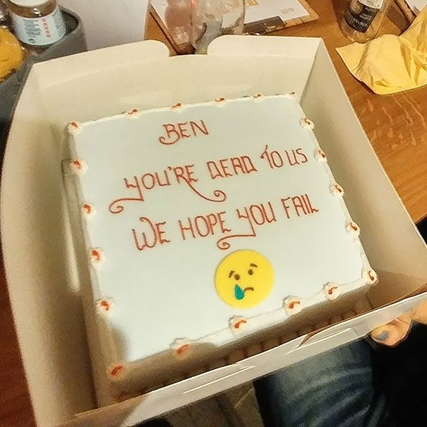 These Hilarious Farewell Cakes Were A Perfect Send Off On An