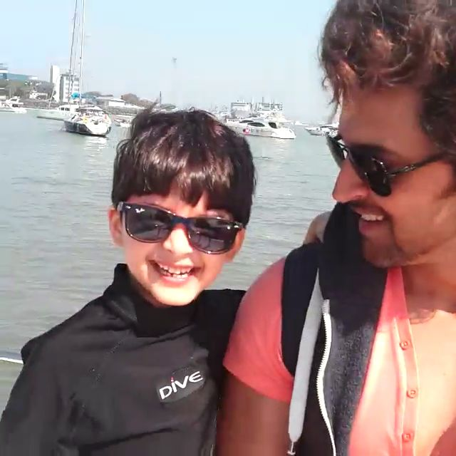 Hrithik Roshan Celebrate Birthday with His Sons and Family