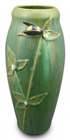 Bee in the Berry Patch pottery vase by Dard Hunter (one of my fav craftsman)
