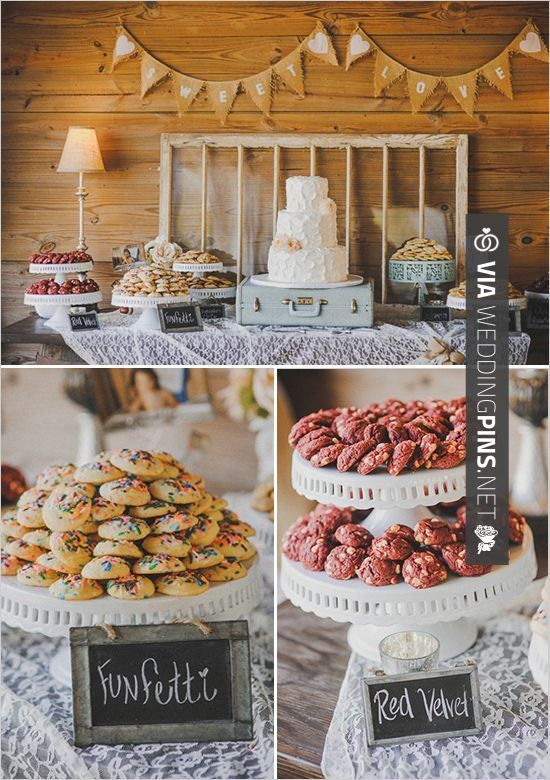 Wedding Cake Buffet Table