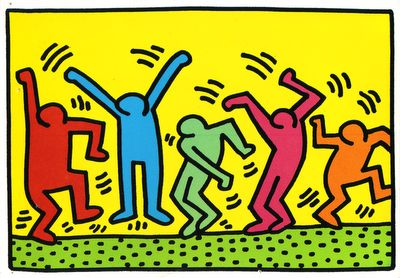 Keith Harring. When I lived in NYC I use to see his art in the subways.