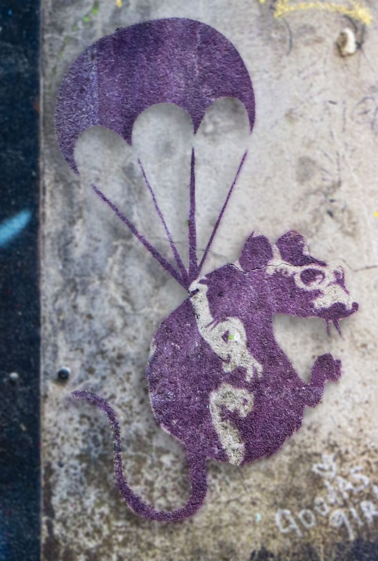Graffiti art for sale melbourne - Faded Remnants Of Banksy S Parachuting Rat In Melbourne Laneway Still Surviving After 10 Years
