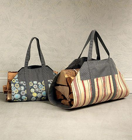 Log carrier sewing pattern from Kwik Sew comes in 2 sizes. K4150