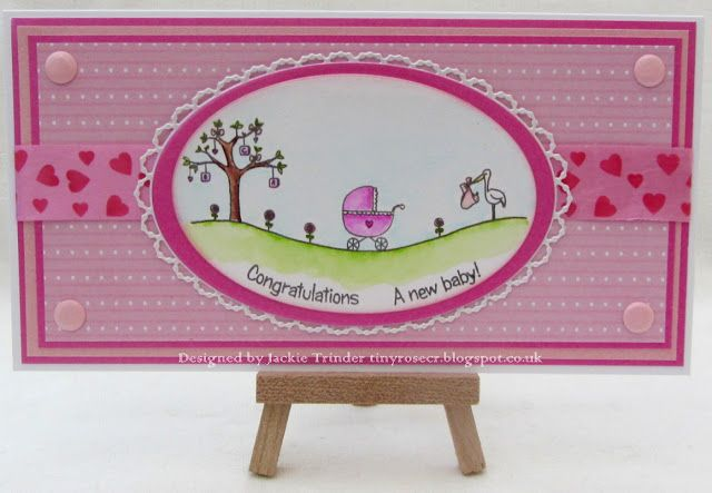 Tinyrose's Craft Room: New Baby Cards made with a stamp by LC Designs