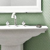"""Found it at Wayfair - Retro Penny Round 0.75"""" x 0.75"""" Porcelain Mosaic Tile in Matte Light Green"""