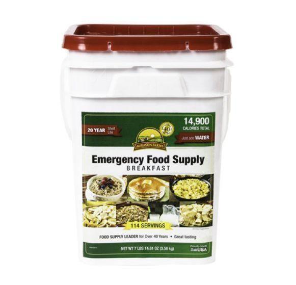 Augason Farms Emergency Food Supply Breakfast Pail
