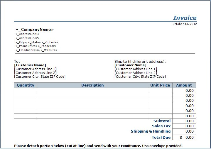 stub invoice template | janitorial | pinterest | templates and, Invoice templates