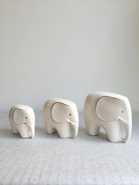 L'éléphant Vintage ensemble de trois Chine milieu du par moovi