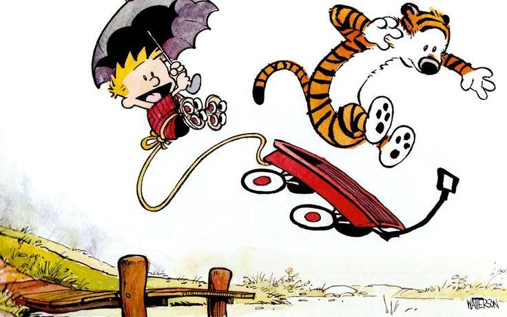 Calvin & Hobbs you're so silly!!!