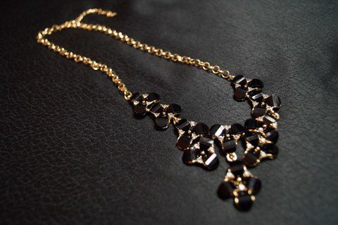 Black & Gold Flower necklace