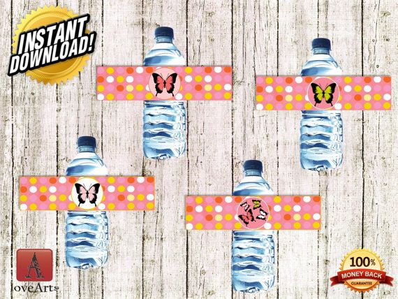 Hey, I found this really awesome Etsy listing at https://www.etsy.com/listing/242132968/water-bottle-labels-butterfly-labels