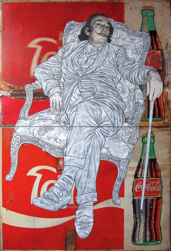 Pakpoom Silaphan: Dali Sits on Coke, 2014.